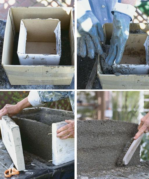 Изделия из цемента своими руками для сада